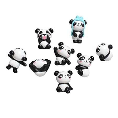 liitrton 8 unidades PVC estéreo de dibujos de cortar Panda imanes ...