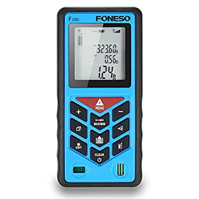 Laser Measure, Foneso F100 328ft Distance Measurering Tool with 100m Range and Backlit Display by Foneso