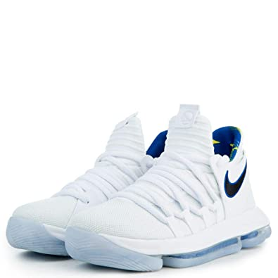 newest collection e5b7a d33bb Nike Zoom KD10 Numbers Basketball Shoes Kevin Durant White Black Blue New  897815-101 - 8.5  Buy Online at Low Prices in India - Amazon.in