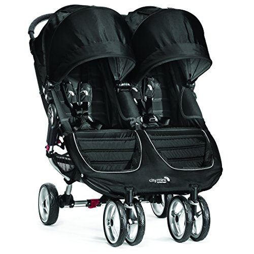 Baby Jogger City Mini Double Stroller - 2016 | Compact, Lightweight Double Stroller | Quick Fold Baby Stroller, Black/Gray (Baby Jogger City Mini Gt Double 2016)