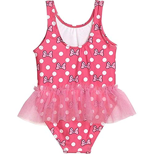 Minnie Mouse Girls Swimwear Swimsuit (2T, Pink)]()