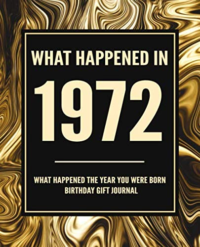 What Happened In 1972 - What Happened The Year You Were Born Birthday Gift Journal: 48th Birthday Gift 7.5x9.25 120 Pg Journal Notebook Better Than A Card Birthday Retirement Cheap Gift
