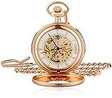 Charles-Hubert, Paris Rose Gold-Plated Mechanical Pocket Watch