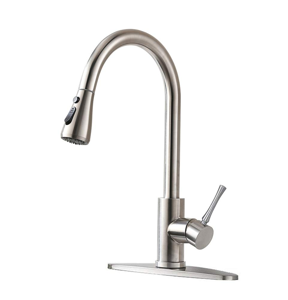 Homy Kitchen Faucets With Pull Down Sprayer Sus304 Stainless Steel