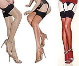 Rose Sakura 0908 Ultra Thin Sheer Thigh high Rib top Stockings (Nude Coffee Red)