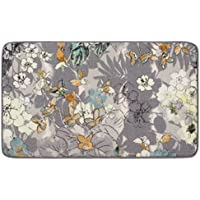 Laura Ashley Ethereal High Definition Printed Memory Foam 27 in. x 45 in. Accent Rug in Jersey