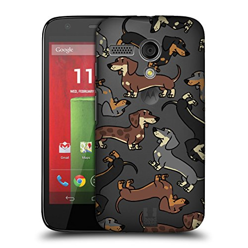 Head Case Designs Dachshund Dog Breed Patterns 3 Hard Back Case for Motorola Moto G (1st Gen) (Case G Moto Head)