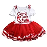 Charm Kingdom Little Girls Christmas Holiday Candy Cane Cutie Tutu Dress