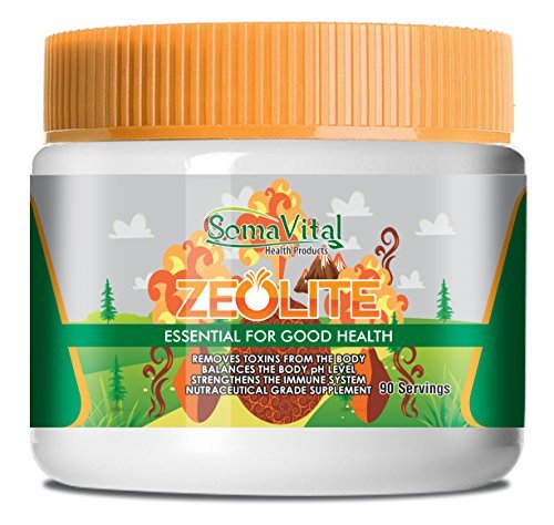 SomaVital All Natural Zeolite Powder - 100% Pure, Finely Micronized Clinoptilolite Powder - Improves Immune System and Blood Pressure While Assisting Weight Loss - Gluten-Free, Vegan and Non-GMO