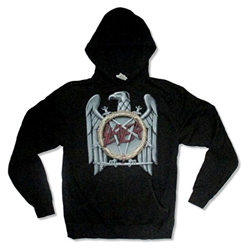 (Slayer Classic Big Eagle Logo Back Pullover Mens Black Hoodie Sweatshirt (M))