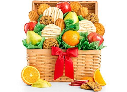 GiftTree Fresh Fruit and Gourmet Cookies Gift Basket - Premium Fresh Pears, Apples with Fresh (Gourmet Cookie Sampler Gift)