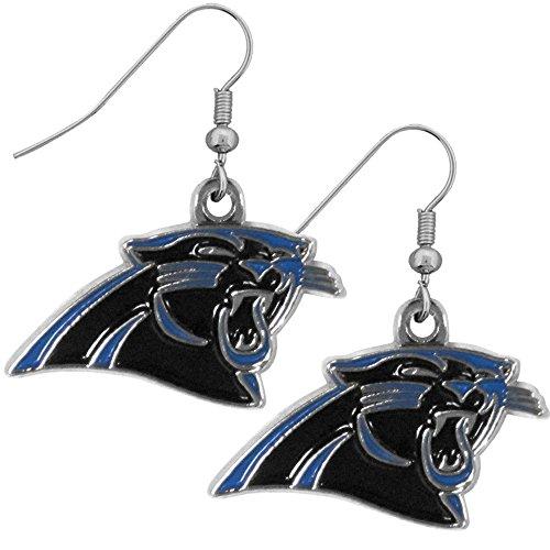 Siskiyou NFL Carolina Panthers Chrome Dangle Earrings ()