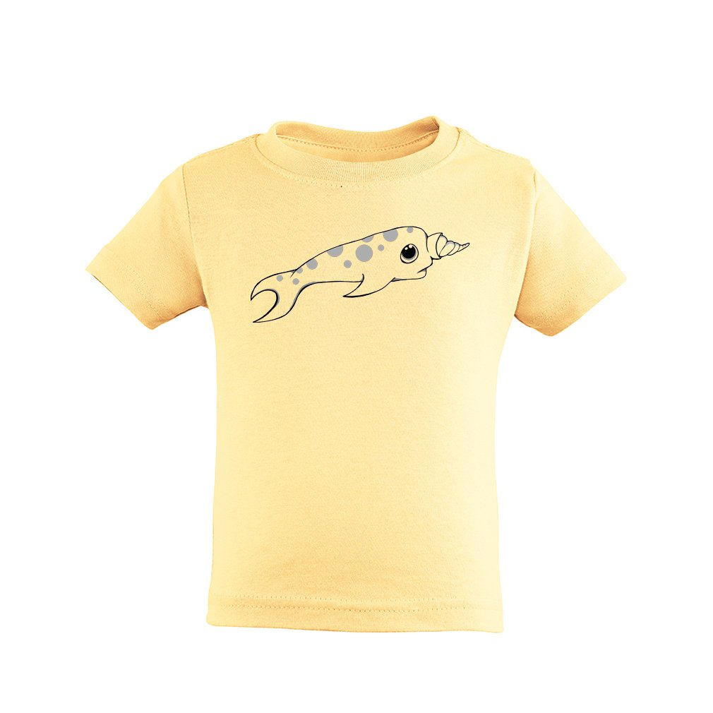Apericots Cute Narwhal Unisex Kids Toddler Tee Shirt