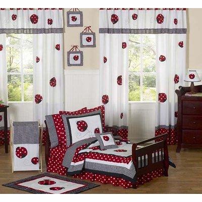 Sweet Jojo Designs 5-Piece Red and White Polka Dot Ladybug Girl Toddler Bedding (Ladybug Toddler Bedding)