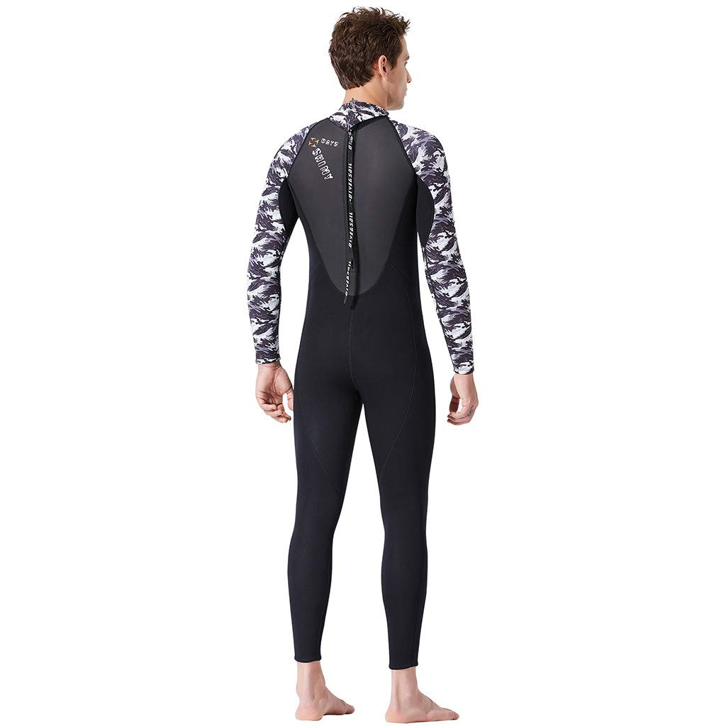 Yliquor Men's Keep Warm Sunscreen Swimming,Surfing and Snorkeling Diving Coverall SuitQuick Dry Breathable Elastic Training Comfy Classic Fashion by Yliquor (Image #6)