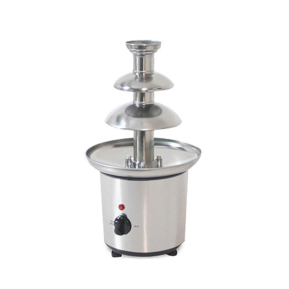 Wotefusi Chocolate Fountains 3-Tier Tower Chocolate Fondue Tower Stainless Steel 110V