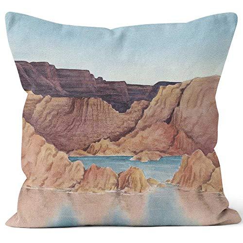 Nine City Lake Powell Burlap Pillow,HD Printing for Couch Sofa Bedroom Livingroom Kitchen Car,40