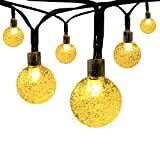 Image of Innoo Tech Solar Globe String Lights Outdoor 19.7 ft 30 LED Warm White Crystal Ball Christmas Globe Lights for Garden Path, Party, Bedroom Decoration