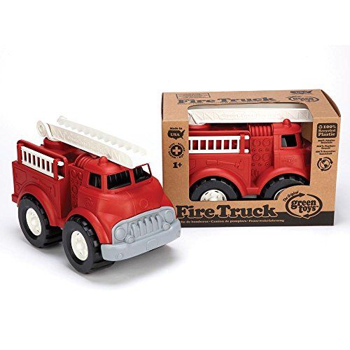 51qhLlbwAHL - Green Toys Fire Truck - BPA Free, Phthalates Free Imaginative Play Toy for Improving Fine Motor, Gross Motor Skills. Toys for Kids