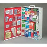 Radnor 64058001 Four-Shelf 50 Person Durable Metal Industrial First Aid Cabinet