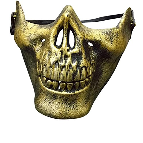 Halloween Skull Skeleton Mask - Half Face Protect Mask Protective Skull Skeleton for Halloween, CS, Costume Party, Airsoft, Paintball, Hunting By Kolodo (Paintball Costumes Halloween)