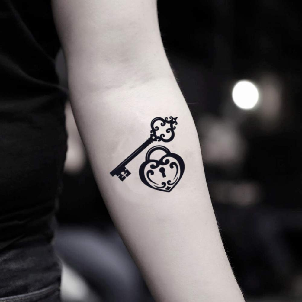 Tatuaje Temporal de Cerradura y llave (2 Piezas) - www.ohmytat.com ...
