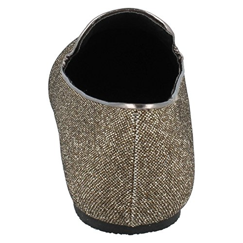 Gold Flat Cut Slipper Ballerina Spot Glitter On OYwqx4a