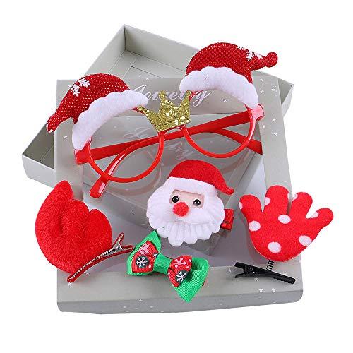Sunbona Hair Clips for Women Girls Kids Infant Baby Girls Christmas Bow Cartoon Hairclip Hairpin Set Barrettes ()