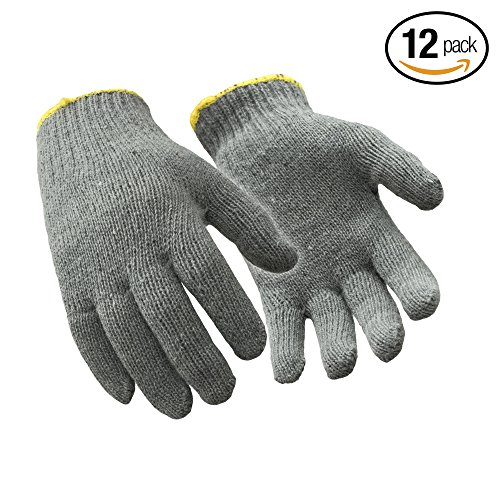 Midweight Liner (RefrigiWear Midweight Knit Glove Liner, Pack of 12, Gray Large)