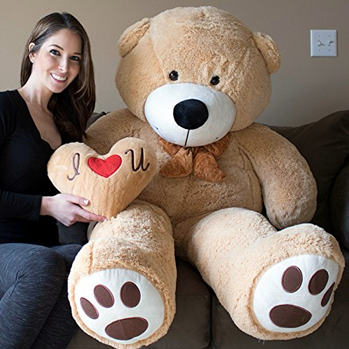 YESBEARS 5 Foot Giant Teddy Bear Ultra Soft Paws Embroidery (Pillow -