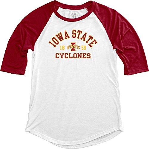 NCAA Iowa State Cyclones Adult Women NCAA Women's Teagan Baseball Tee,Large,Cardinal