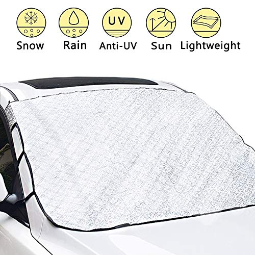 Car Windshield Cover, Car Snow Cover Frost Windshield Cover with Magnetic Edges Snow Thickened Cotton, Ice, Frost Defense No Scratches
