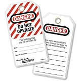 Master Lock 'Do Not Operate' English/Spanish Lockout ID Tags, Pack Of 12