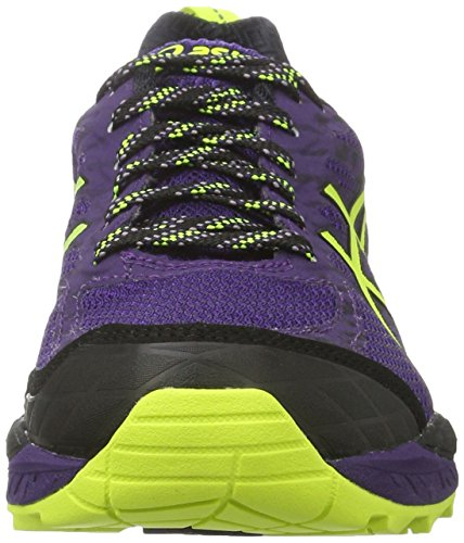 Asics Gel-Fujitrabuco 5 G-Tx, Zapatillas de Running para Asfalto para Mujer Morado (Parachute Purple/safety Yellow/black)