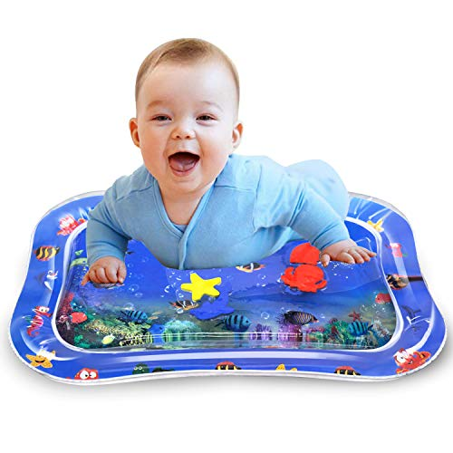 - BOIROS Baby Water Mat, Inflatable Tummy Time Playmat Leakproof Pat Perfect Fun Time Play Activity Center for Babies Infants Toddlers Baby'S Stimulating Growth Motor Skills Newborns Engaging Toys