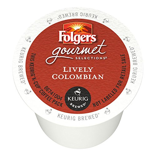 Folgers Gourmet Selections Single Serve Coffee - Lively Colombian - 80 K-Cups (Single Serve Portion Packs designed for use with Keurig Brewers) (Classic Gourmet Coffee)