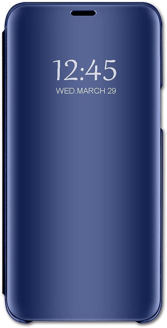 Funda compatible con LG K50, funda de piel sintética con espejo ...