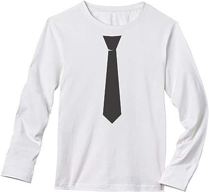 TeeStars - Camiseta de Manga Larga con Corbata Negra ...