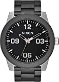 Nixon Men's 'Corporal SS' Quartz Stainless Steel Casual Watch, Color:Black (Model: A3462541-00)