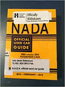 Nada Official Used Car Guide 2005 Through 2012 Passenger