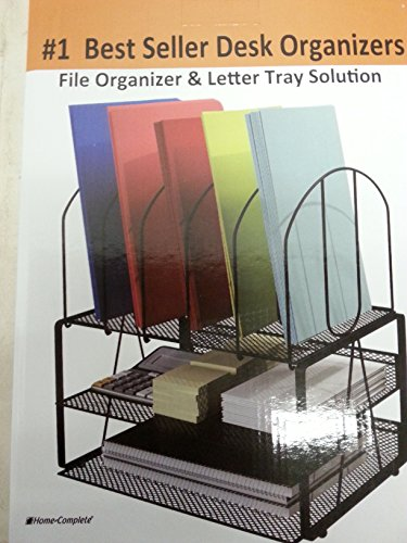 Desk Organizer Small Footprint Wire Mesh File Holder, Black