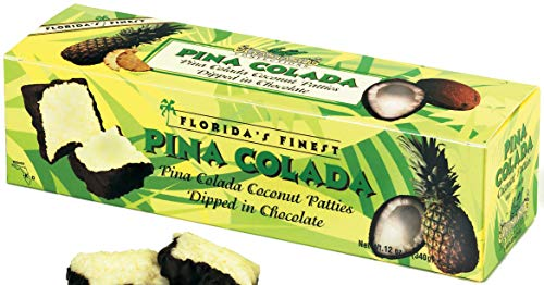 Florida's Finest Pina Colada Creamy Coconut Patties Dipped in Chocolate 12oz