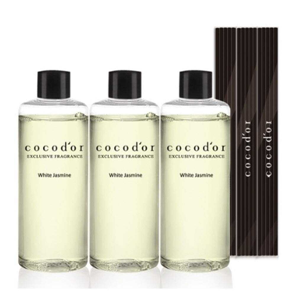Cocod'or Reed Diffuser Oil Refill/White Jasmine / 3p 200ml + 3sets of 5p Reed Stick by Cocod'or (Image #1)