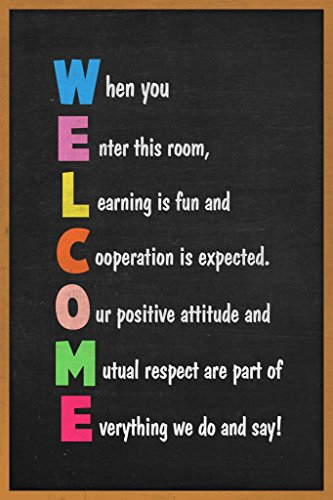- Welcome Classroom Sign Educational Poster 24x36 inch