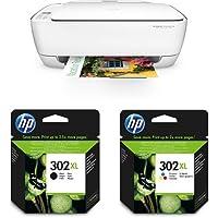 HP Deskjet 3636 Multifunktionsdrucker (A4, WLAN Drucker, Scanner, Kopierer, HP Instant Ink, Apple AirPrint, ePrint, USB, 4800 x 1200 dpi) weiß mit passenden Original Patronen