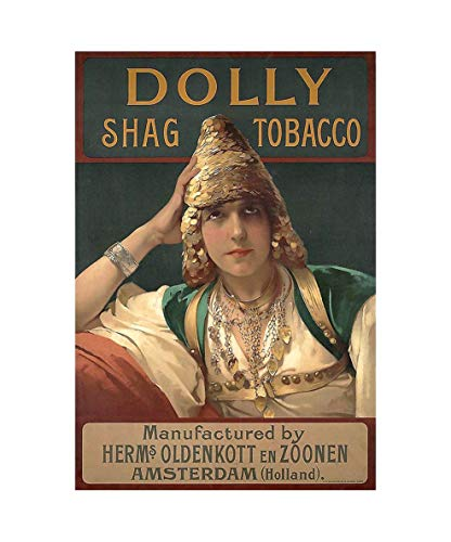 WholesaleSarong Dolly shag Tobacco Vintage Cigar ads Poster Retro Wall Decals Interior Decorating Sites