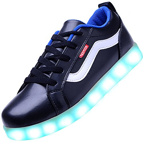 Odema Womens LED Shoes Lowtop Sneakers Light Up Fashion Sneakers