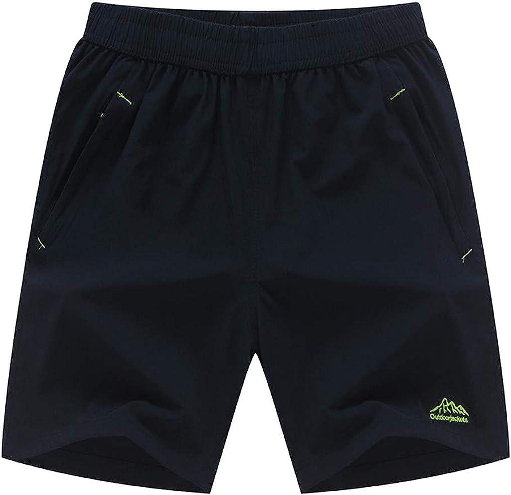 SoeHir Men's New Outdoor Sports Leisure Running Solid Shorts Summer Loose Beach Trouse