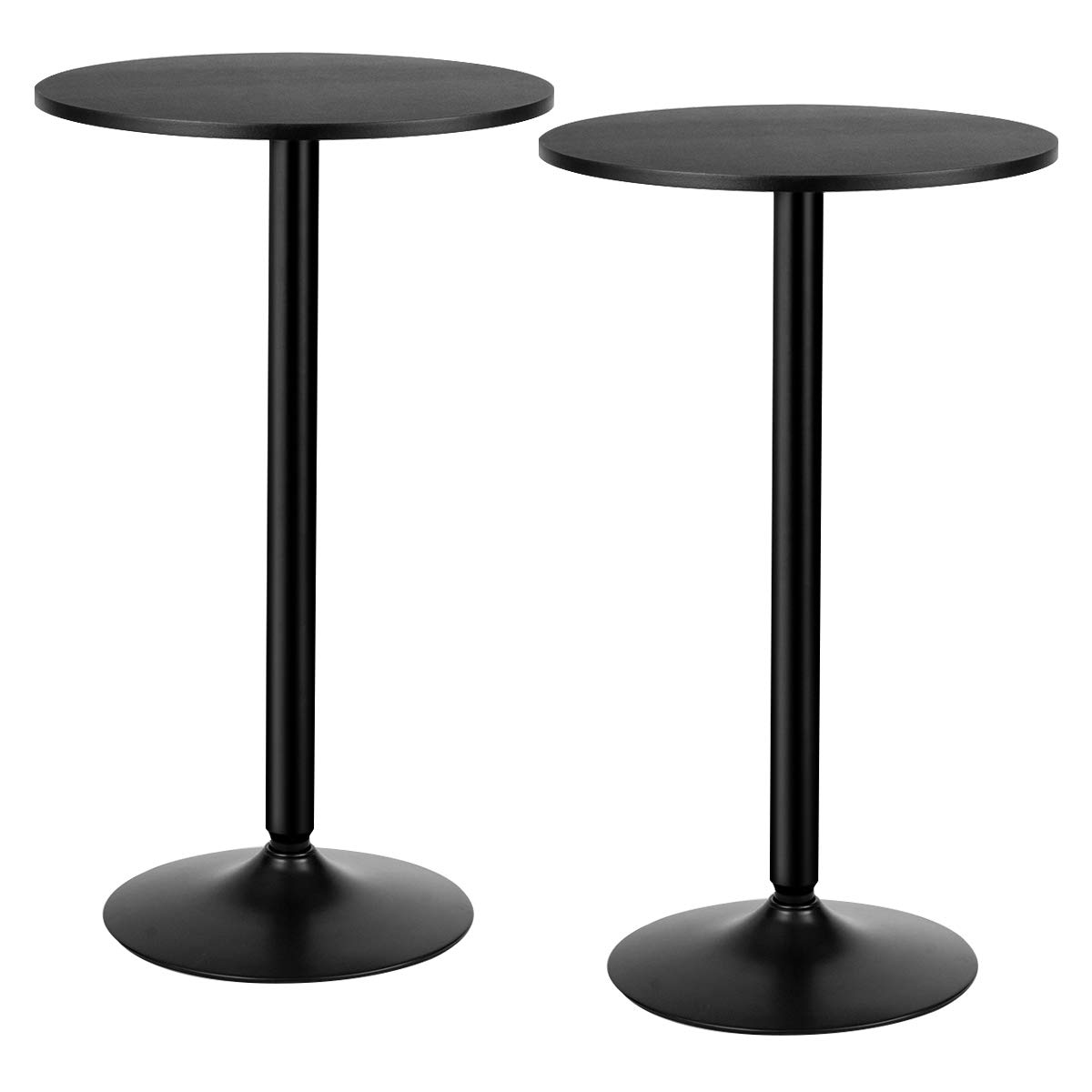 Giantex Pub and Bar Table 2Pcs 24-Inch 40-Inch Height Modern Style Round Top Standing Circular Cocktail Table Suitable for Living Room, Kitchen, Outdoor& Indoor Bistro Table (2) by Giantex