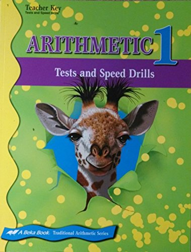 A Beka Arithmetic 1 Test and Speed Drills (Teacher for sale  Delivered anywhere in USA